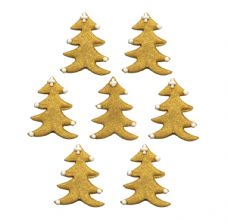 Gold Trees Sugar Decorations